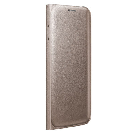 Official Samsung Galaxy S6 Edge Flip Wallet Cover - Gold