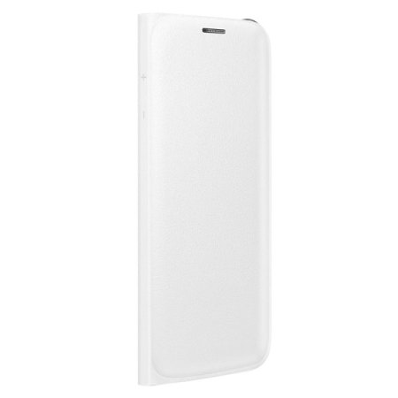 Official Samsung Galaxy S6 Edge Flip Wallet Cover - White
