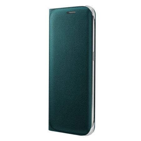 Official Samsung Galaxy S6 Edge Flip Wallet Cover - Green