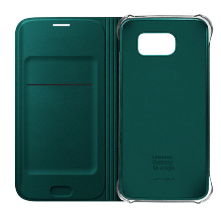 low priced 0919d 0d35d Official Samsung Galaxy S6 Edge Flip Wallet Cover - Green