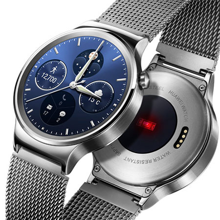Huawei Watch for Android and iOS Smartphones - Silver