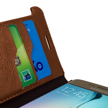 the largest-ever olixar leather style galaxy s6 edge wallet stand case light brown zoomgeotaggingpanoramahdrtouch