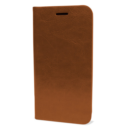 Olixar Leather-Style HTC One M9 Wallet Stand Case - Light Brown