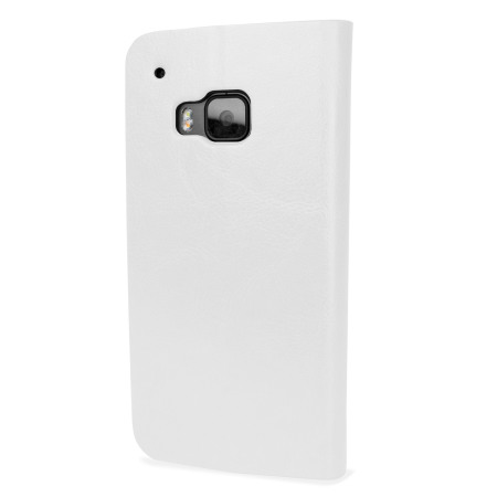 Olixar Leather-Style HTC One M9 Wallet Stand Case - White