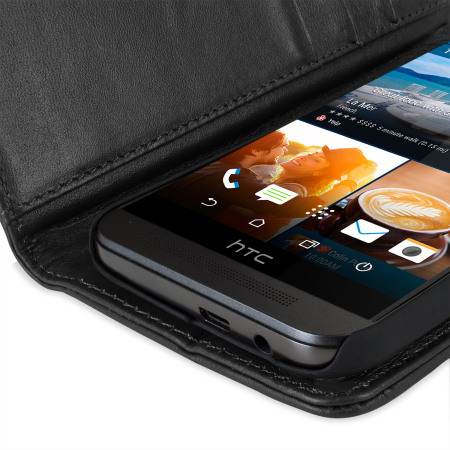 tried olixar htc one m8 genuine leather wallet case black great light