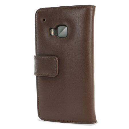 Olixar HTC One M9 Genuine Leather Wallet Case - Brown