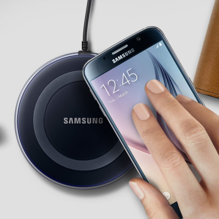 samsung s6 edge. official samsung galaxy s6 / edge wireless charger pad - black a
