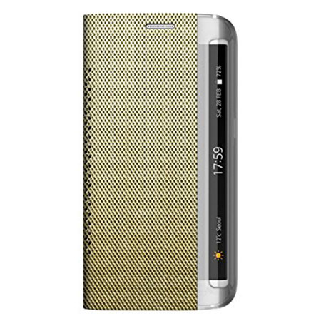 Zenus Metallic Diary Samsung Galaxy S6 Edge Case - Light Gold