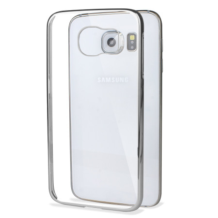 Glimmer Polycarbonate Samsung Galaxy S6 Shell Case - Silver and Clear