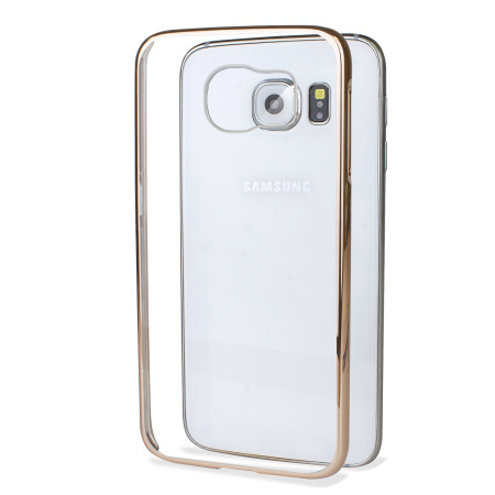 glimmer polycarbonate samsung galaxy s6 shell case black and clear