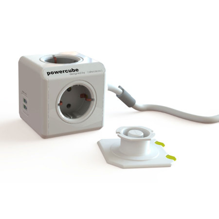 allocacoc PowerCube Extended USB 4x EU Power Plug and 2x USB - 1.5m
