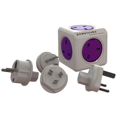 allocacoc World PowerCube Extended USB 4x EU Plug and 2xUSB