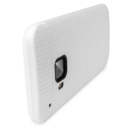 FlexiShield Dot HTC One M9 Case - White
