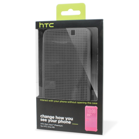 Official HTC One M9 Dot View Case - Grey