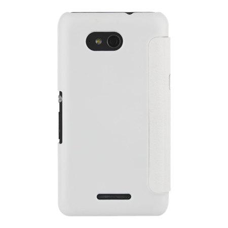 Roxfit Sony Xperia E4g Slim Book Case - White