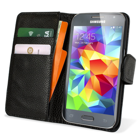 Olixar Leather-Style Samsung Galaxy Core Prime Wallet Case - Black