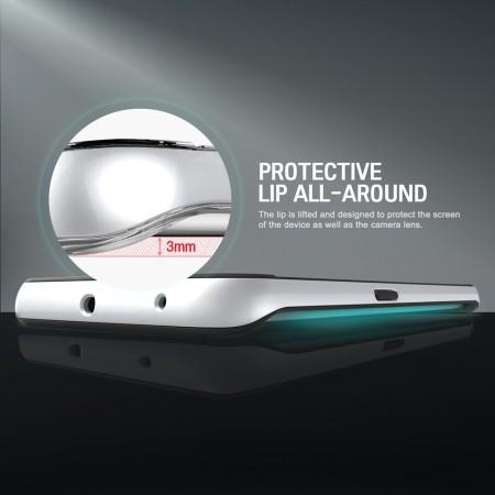 Obliq Dual Poly Samsung Galaxy S6 Edge Bumper Case - White, Pink, Mint