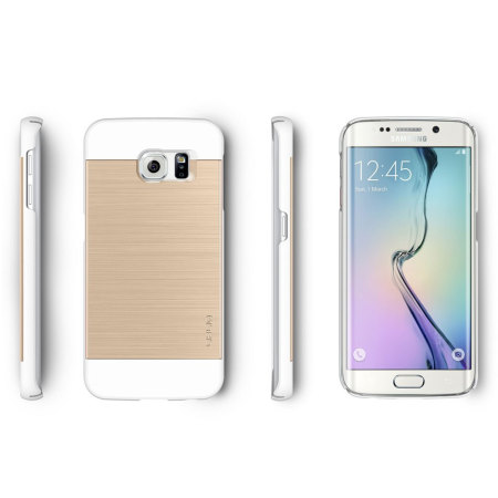 Obliq Slim Meta Samsung Galaxy S6 Edge Case - White Champagne Gold