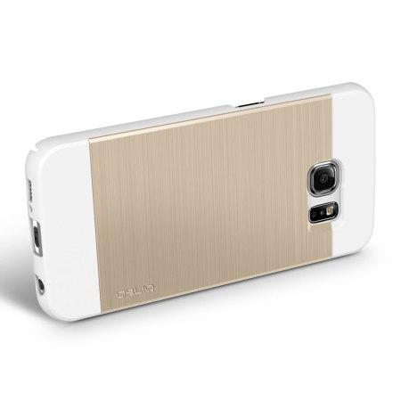 Obliq Slim Meta Samsung Galaxy S6 Edge Deksel - Champagne Gull
