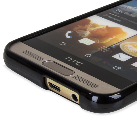 FlexiShield HTC One M9 Plus Case - Solid Black