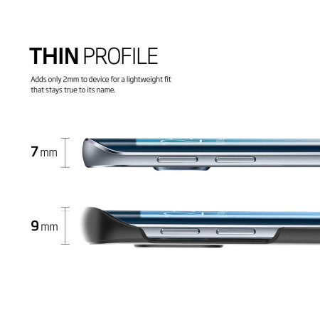 Spigen Thin Fit Samsung Galaxy S6 Edge Shell Case - Smooth Black