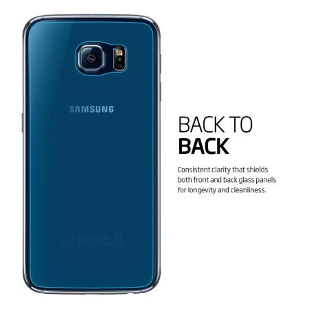 olixar samsung galaxy s6 front back screen protector pack