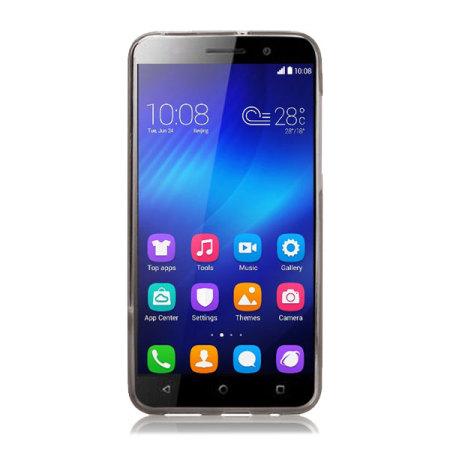 FlexiShield Huawei Honor 4X Gel Case - Smoke Black