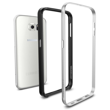 watch f50e3 ca746 Spigen Neo Hybrid Ex Samsung Galaxy S6 Bumper Case - Satin Silver