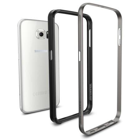 info for 95f1e b5be3 Spigen Neo Hybrid Ex Samsung Galaxy S6 Bumper Case - Gunmetal