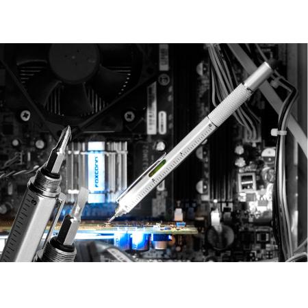 Olixar HexStyli 6 in 1 Stylus Pen - Silver - Twin Pack