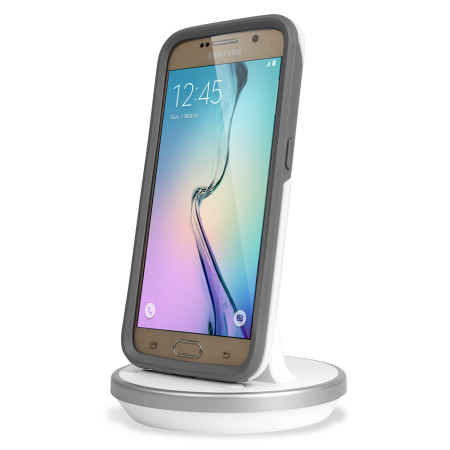 Rugged Case Compatible Galaxy S6 Charging Dock - White