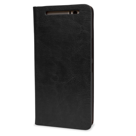 Olixar Leather-Style HTC One M9 Plus Wallet Stand Case - Black