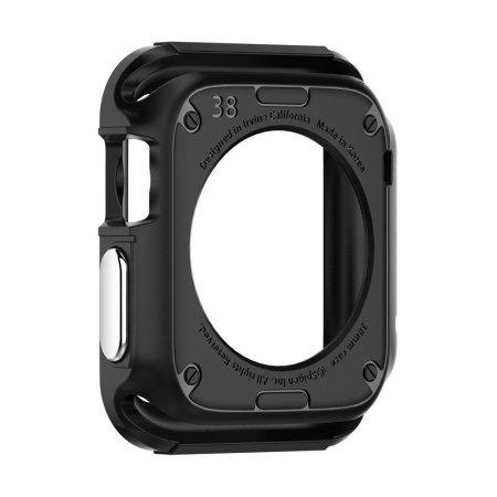 Spigen Rugged Armor Apple Watch Series 3 / 2 / 1 Case (42mm) - Black