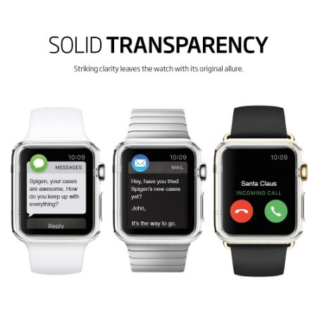 coque apple watch 3 2 1 spigen liquid crystal 42mm transparent. Black Bedroom Furniture Sets. Home Design Ideas