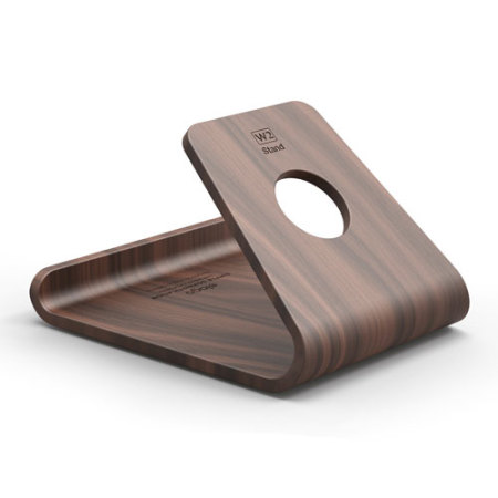 nougat elago w2 iphone and ipad wooden desk stand