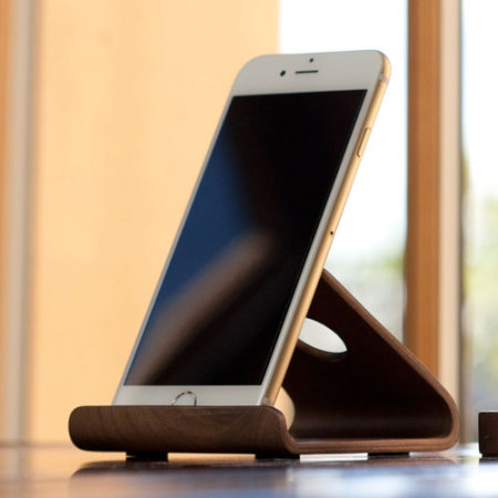W2 Universal Wooden Smartphone Tablet Desk Stand