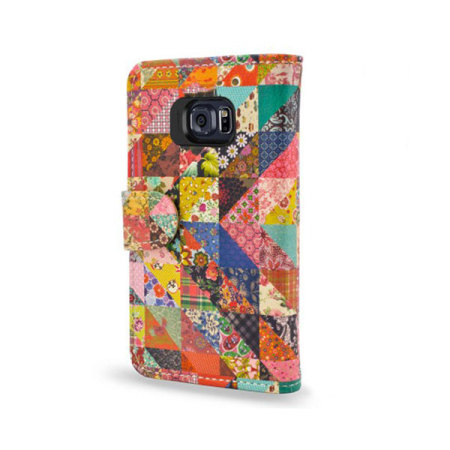 Create and Case Samsung Galaxy S6 Book Case - Grandma's Quilt