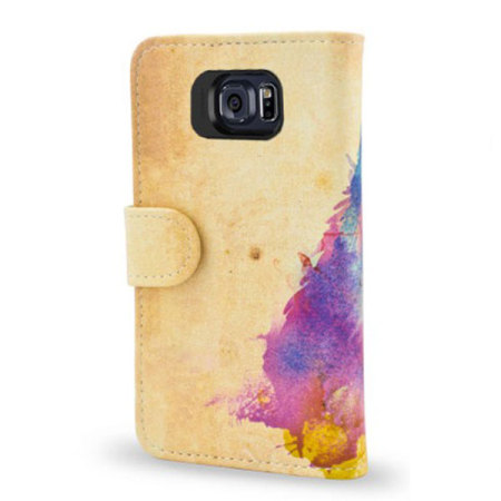 Create and Case Samsung Galaxy S6 Edge Book Case - Sunny Leo