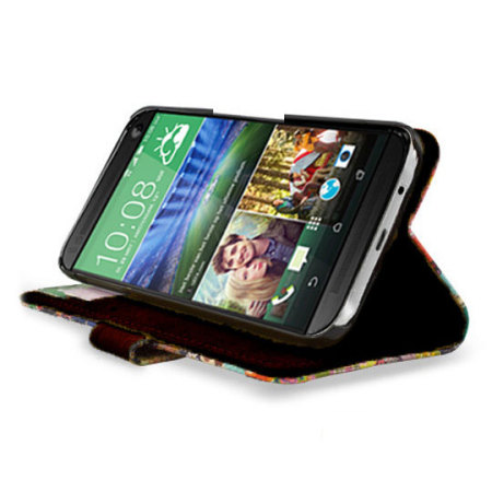 Create And Case HTC One M9 Book Stand Case - Blurry Lines