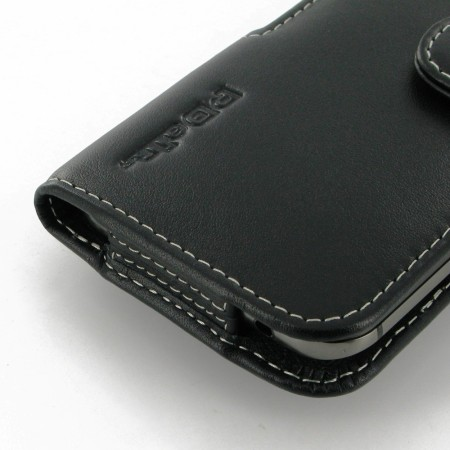 pdair horizontal leather htc one m8 pouch case black