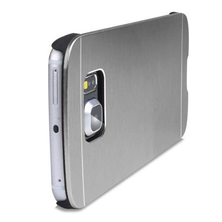 the the olixar aluminium samsung galaxy s6 edge shell case silver hamper was