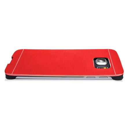 Olixar Aluminium Samsung Galaxy S6 Edge Shell Case - Red