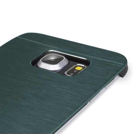 Olixar Aluminium Samsung Galaxy S6 Edge Shell Case - Slate Blauw