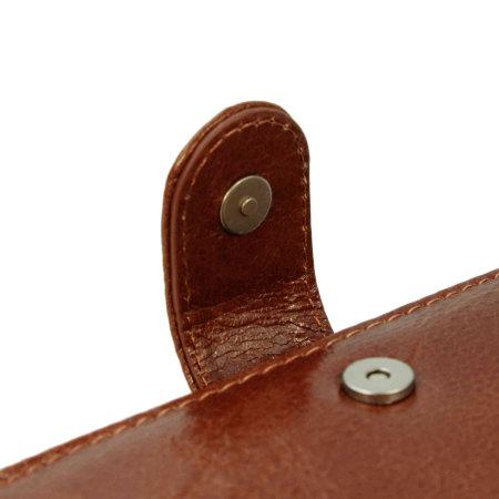 Tuff-Luv Vintage Leather Samsung Galaxy S6 Wallet Case - Brown