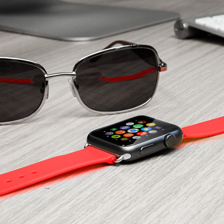 Olixar Silicone Rubber Apple Watch Sport Strap - 38mm - Red