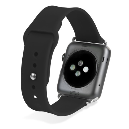 Olixar Silicone Rubber Apple Watch Sport Strap - 42mm - Black