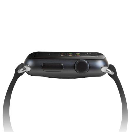 Olixar Silicone Rubber Apple Watch Sport Strap - 42mm - Black