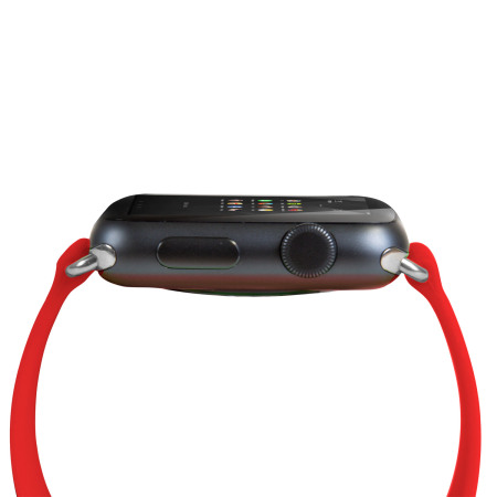 olixar silicone rubber apple watch 2 1 sport strap 42mm red