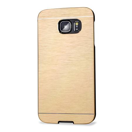 olixar aluminium samsung galaxy s6 edge shell case gold