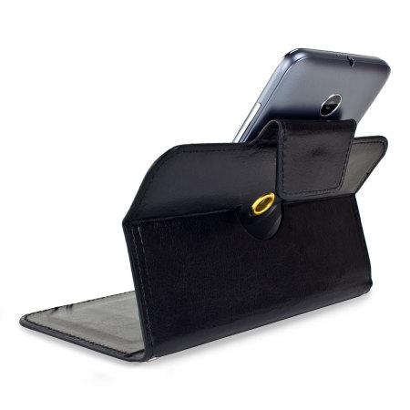 for encase leather style vodafone smart prime 6 wallet case black only